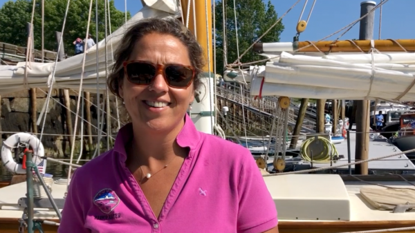 Abbie Leonard the Harbormaster in Rockport Maine
